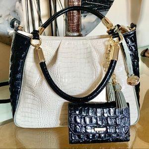 Brahmin Ruby 3-Tone Melbourne Leather Bag & Wallet